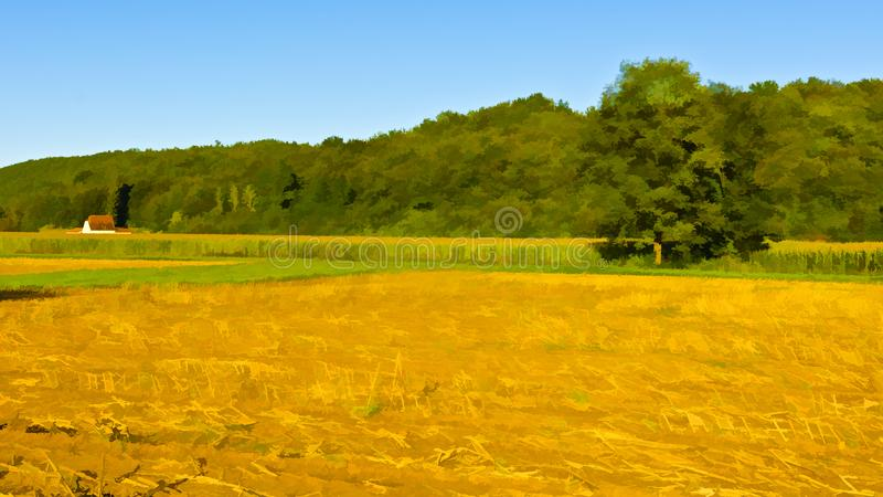 Después de cosecha stock de ilustración