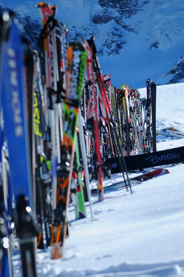 Después de esquí imágenes de archivo libres de regalías