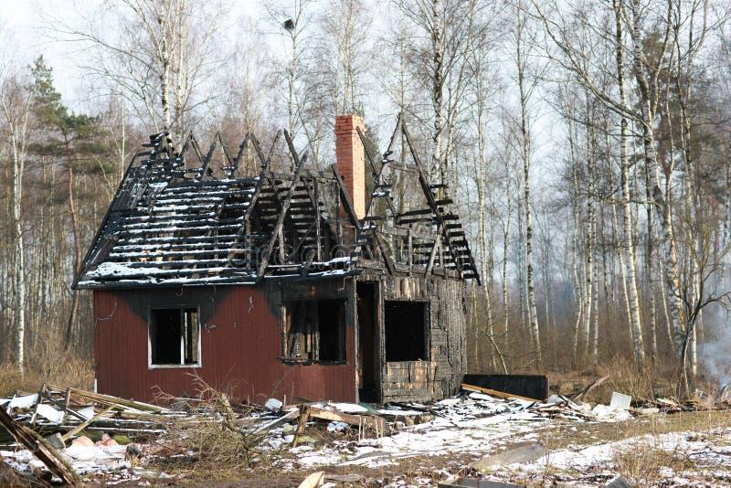 Después de fuego foto de archivo