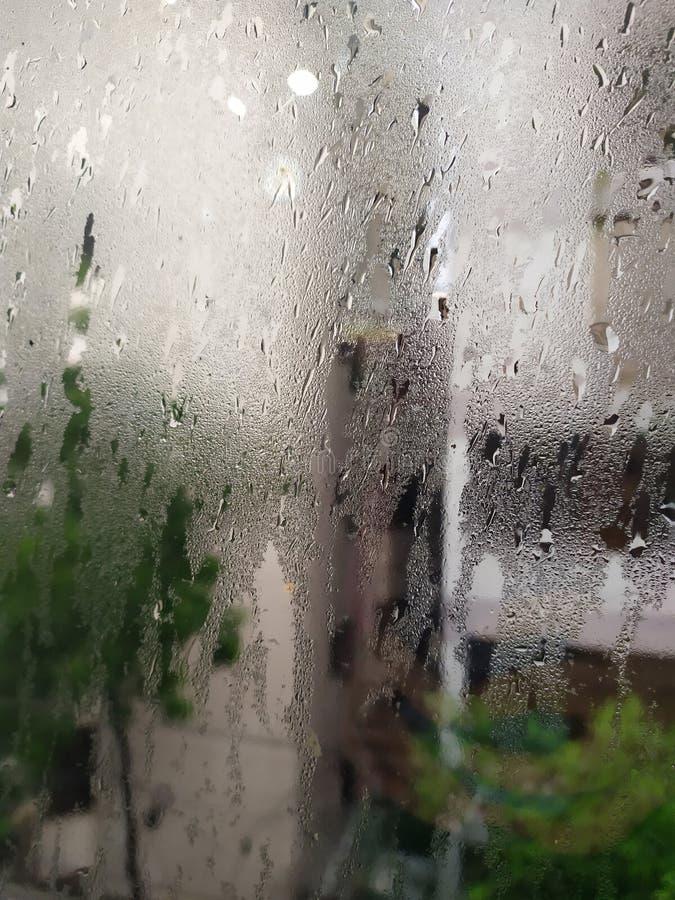 Después de la fotografía abstracta de la lluvia tempestuosa fotografía de archivo libre de regalías