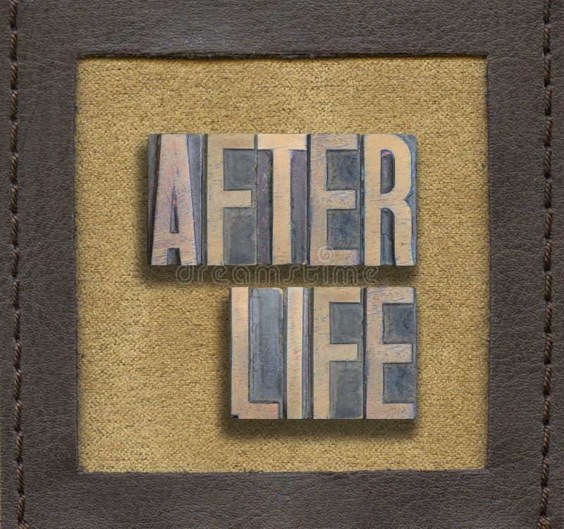 Después de la vida enmarcada fotografía de archivo
