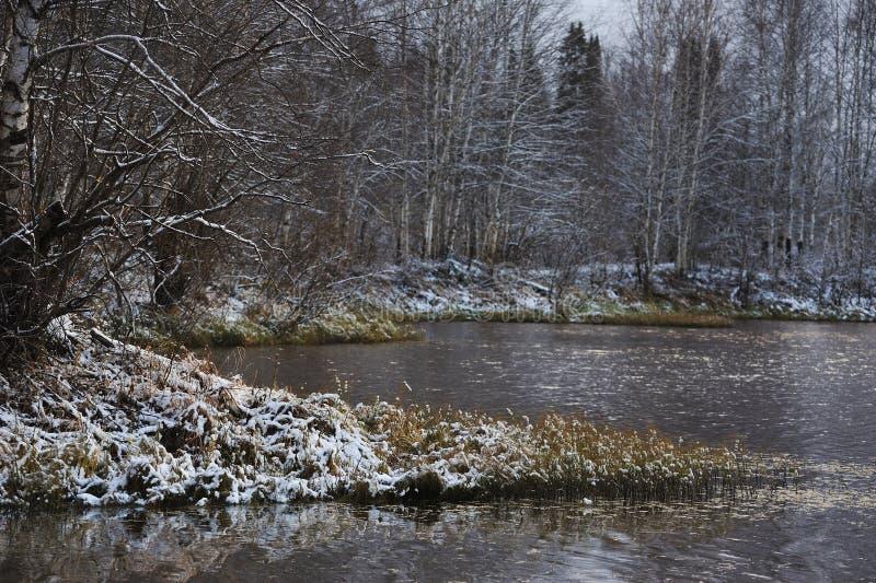 Después de las primeras nevadas imagen de archivo