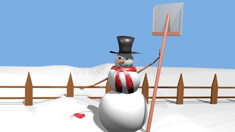 Después de nevadas imagen de archivo libre de regalías