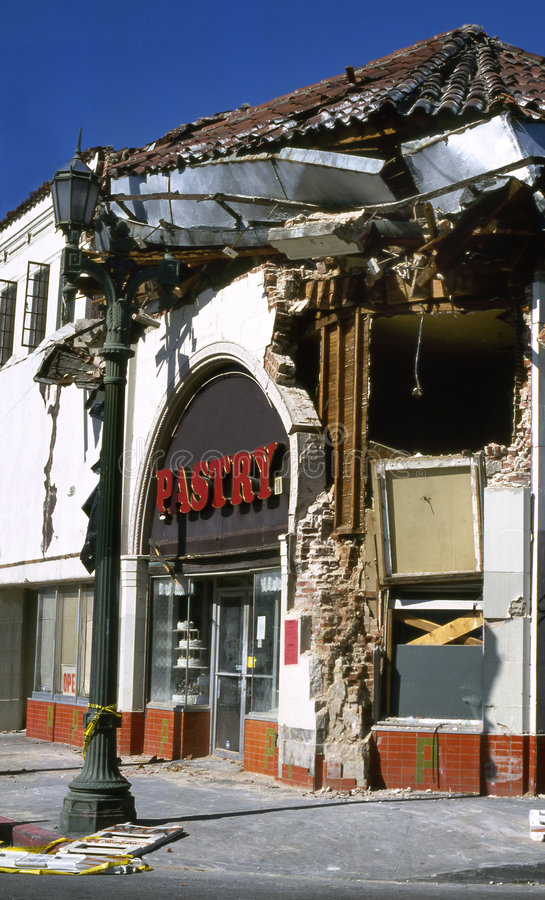 Después del terremoto foto de archivo