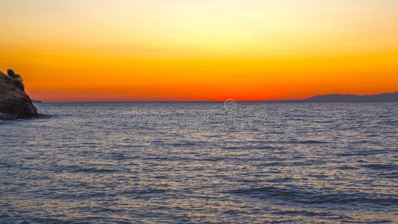 Despu?s de puesta del sol imagen de archivo libre de regalías