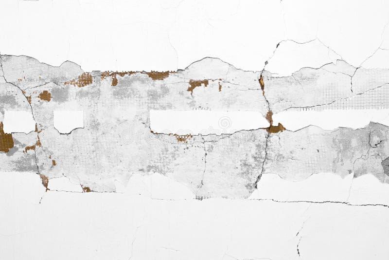 Desquamation av vit murbruk Ingrepp under murbruken close upp arkivfoton