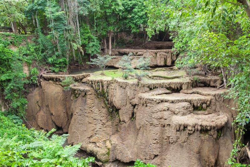 Desséchez la condition de sécheresse de cascade dans Kanchanaburi image stock