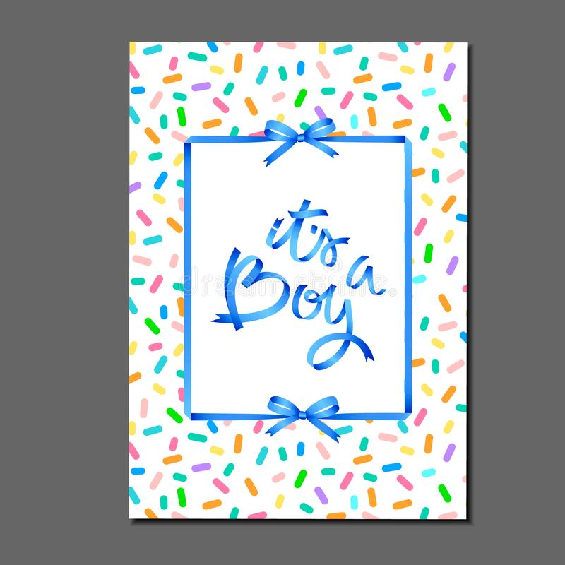 dess pojke märka på modell för stänk för födelsedagkaka b?jer band Hälsningkort, inbjudan, affisch, etikett, klistermärke etc. vektor illustrationer