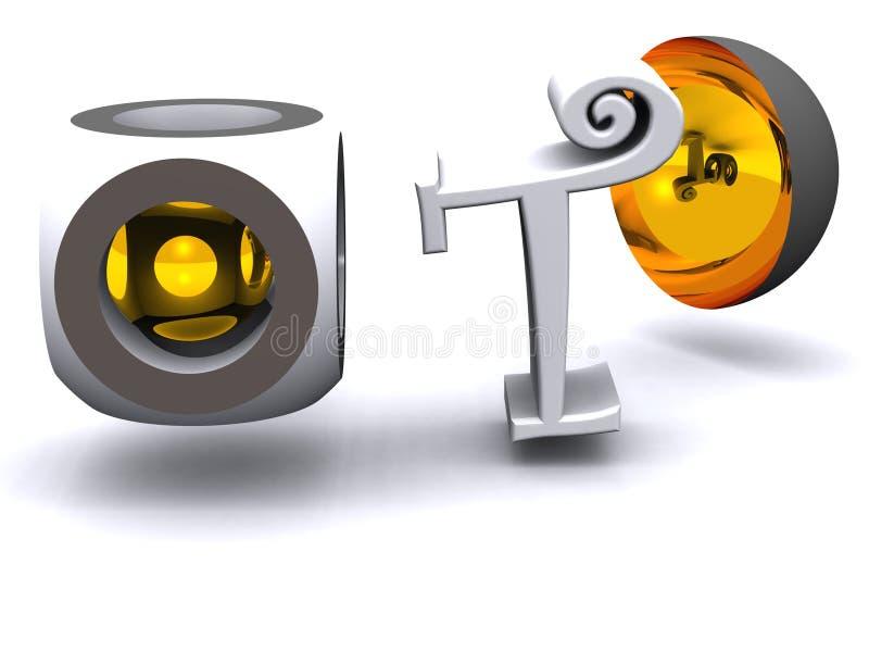 dess t-teknologi stock illustrationer