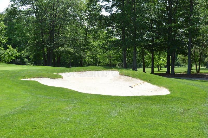 Dessableur de terrain de golf image libre de droits