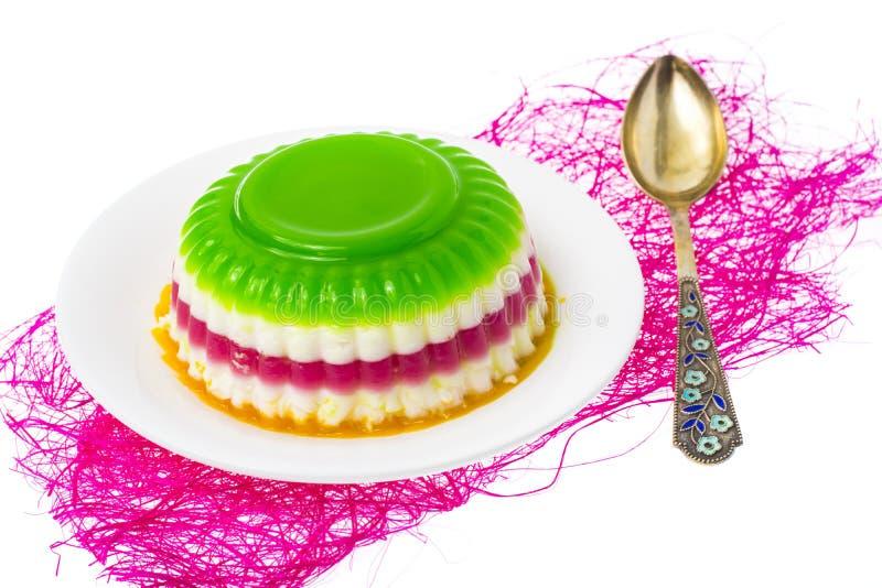 Desser faible en calories facile : gelée de fruit et de baie photographie stock libre de droits