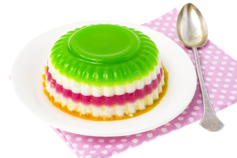 Desser faible en calories facile : gelée de fruit et de baie photographie stock