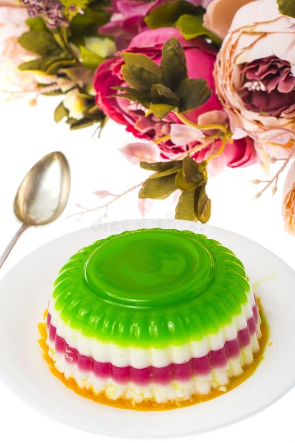 Desser faible en calories facile : gelée de fruit et de baie image stock