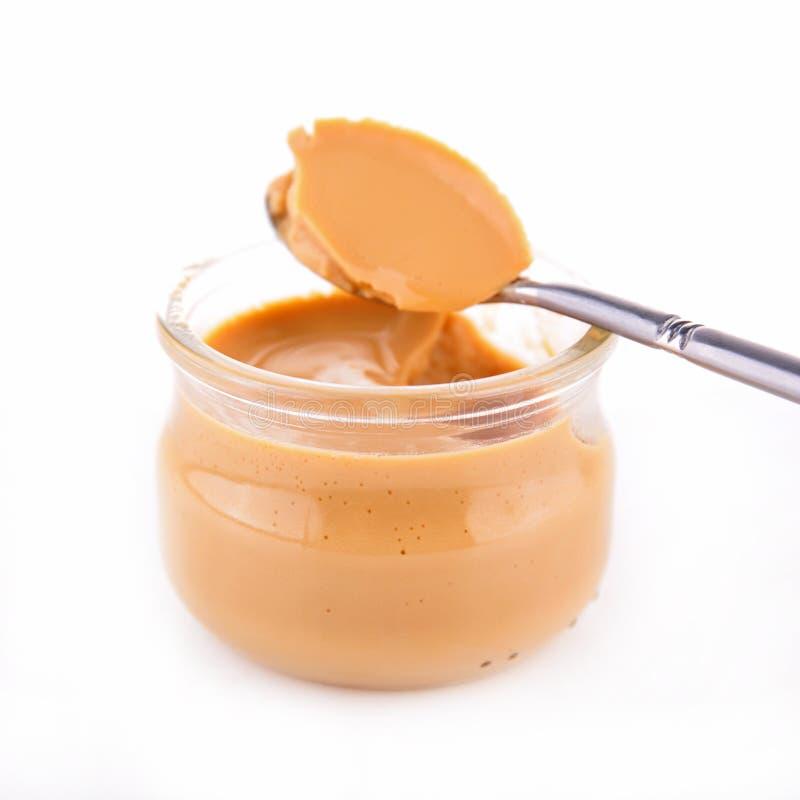 Dessert à la crème de caramel photos stock