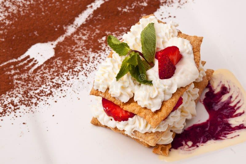 Download Dessert stock photo. Image of closeup, cream, brown, fruit - 24335018