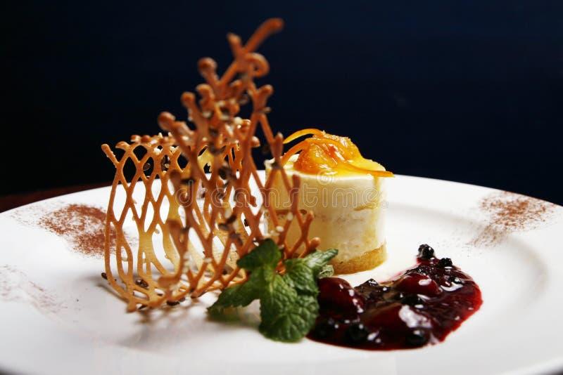 Dessert arancione di Toping fotografie stock libere da diritti
