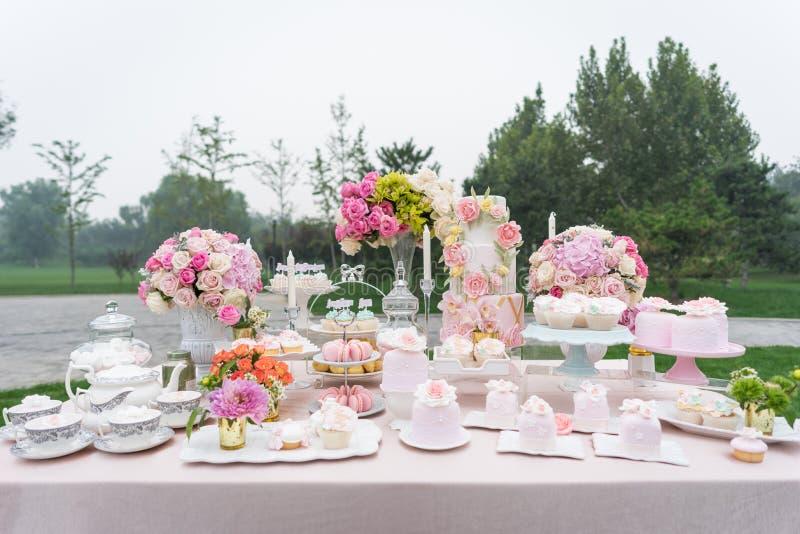 Dessert au mariage photos stock