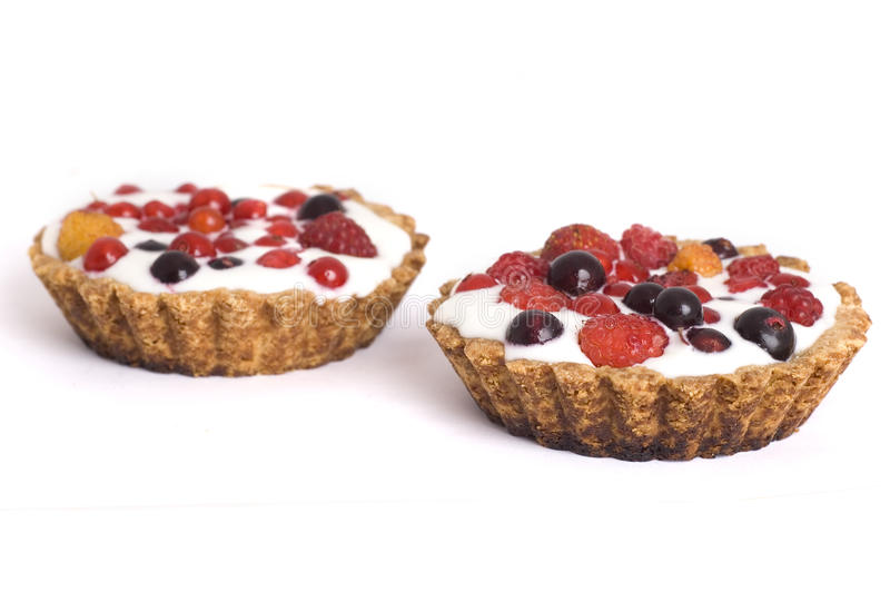 Dessert with berries stock photos