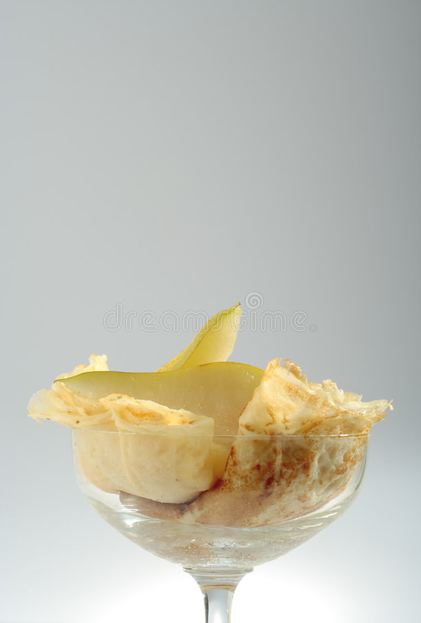 Dessert in bowl royalty free stock images
