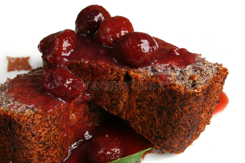 Download Dessert With Cherry Royalty Free Stock Photo - Image: 1384985