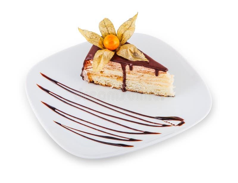 Dessert with chocolate. royalty free stock photos