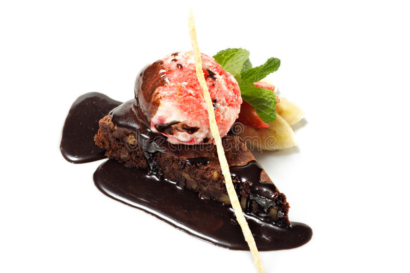 Dessert - Chocolate Pie stock photo
