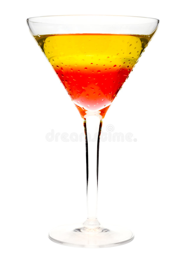Dessert cocktail stock image