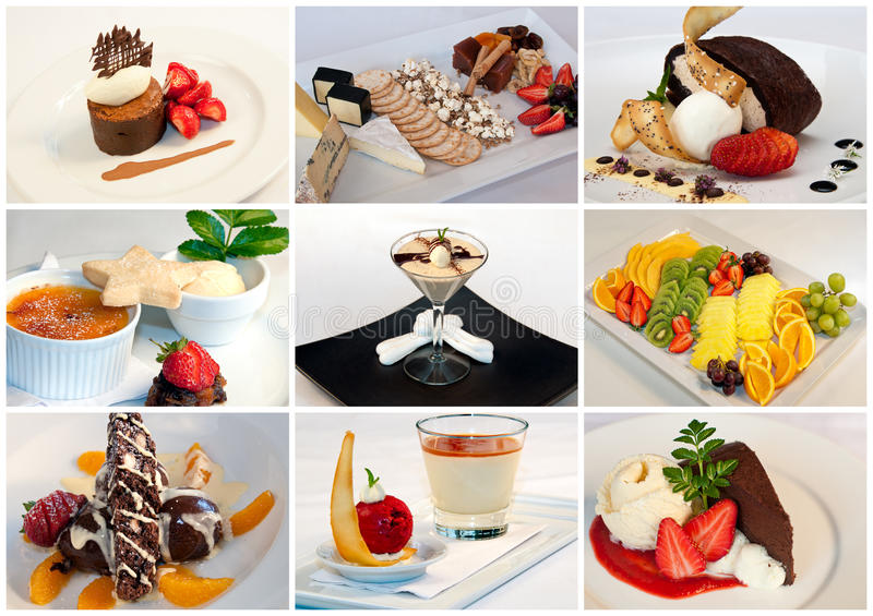 Dessert Collage royalty free stock images