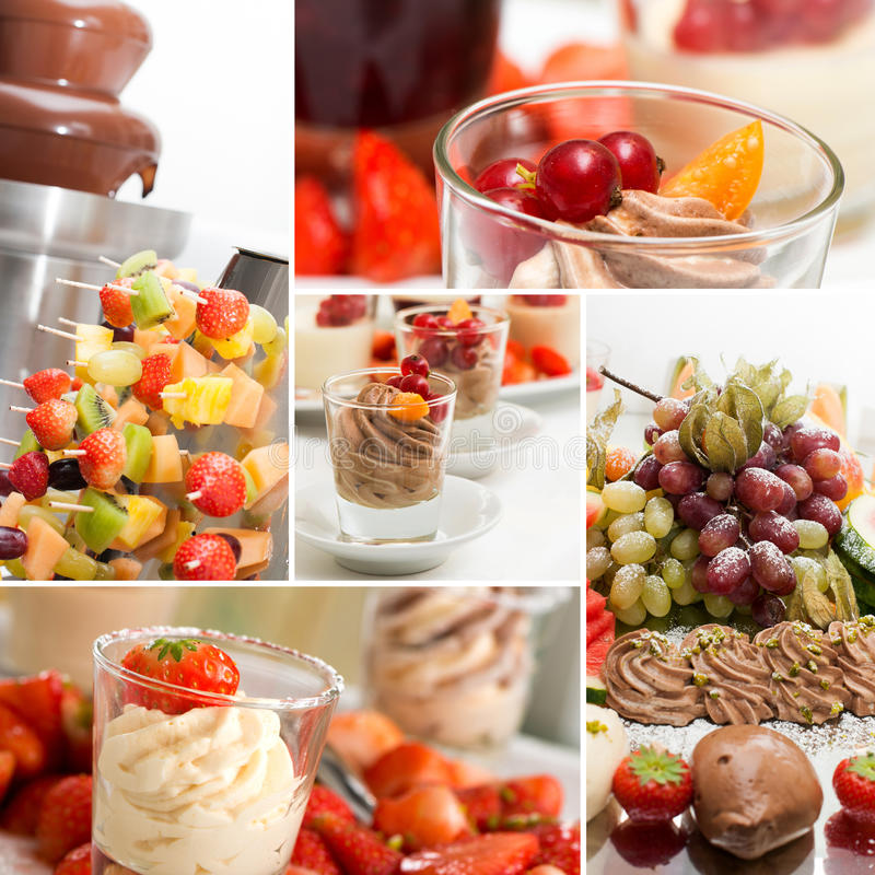 Dessert collage royalty free stock photo