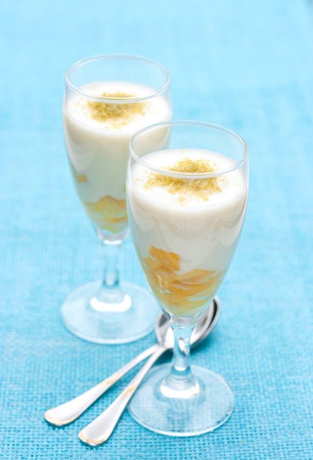 Dessert con il mango fotografia stock