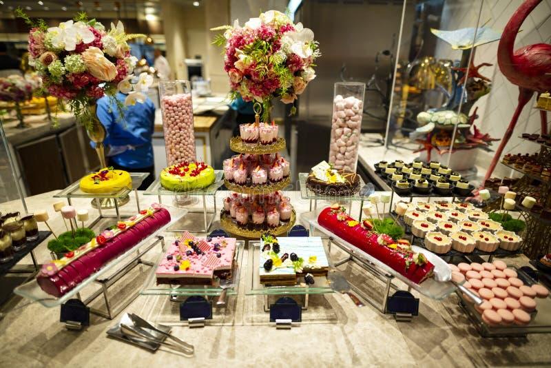 Dessert Corner Buffet stock image. Image of lounge, feed - 15191461