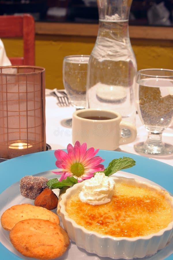 Dessert creme brulee royalty free stock image