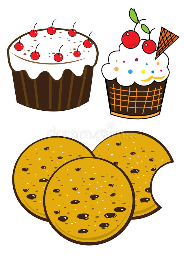Dessert royalty free illustration
