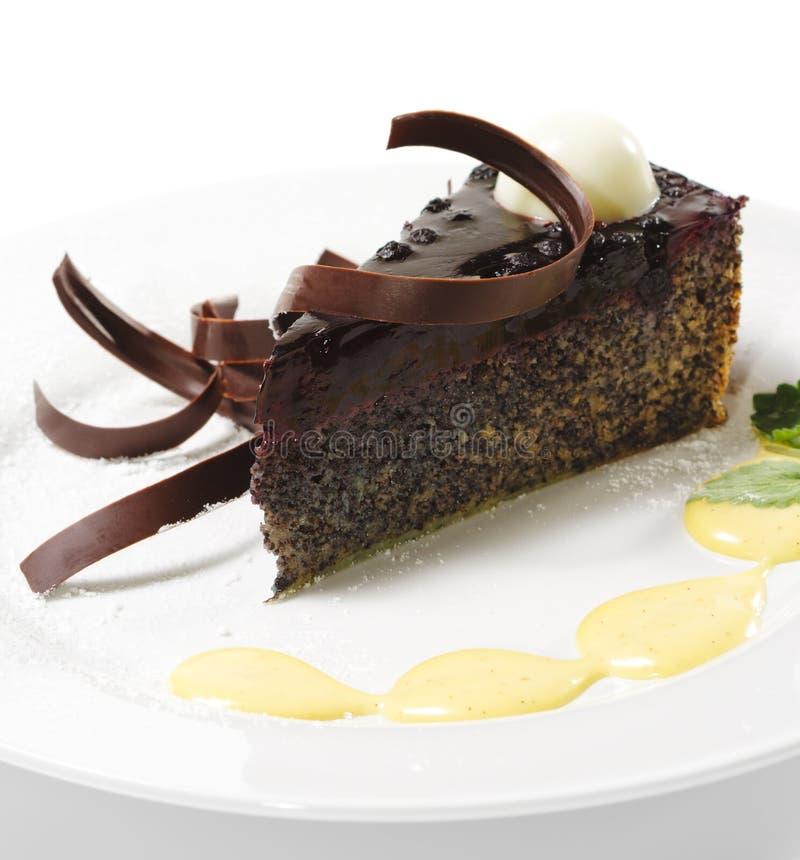 Dessert - de Cake van de Chocolade royalty-vrije stock afbeeldingen