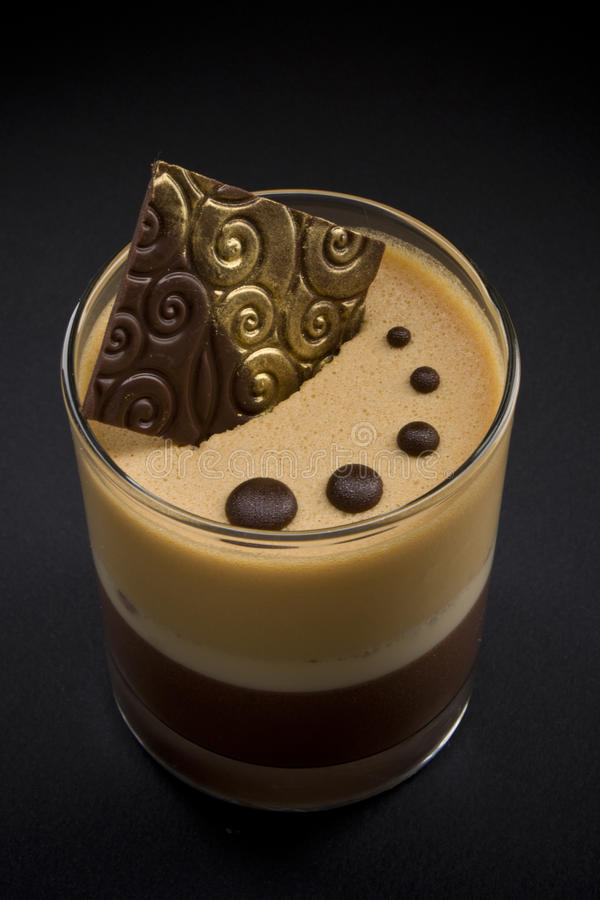 Dessert de cappuccino images libres de droits