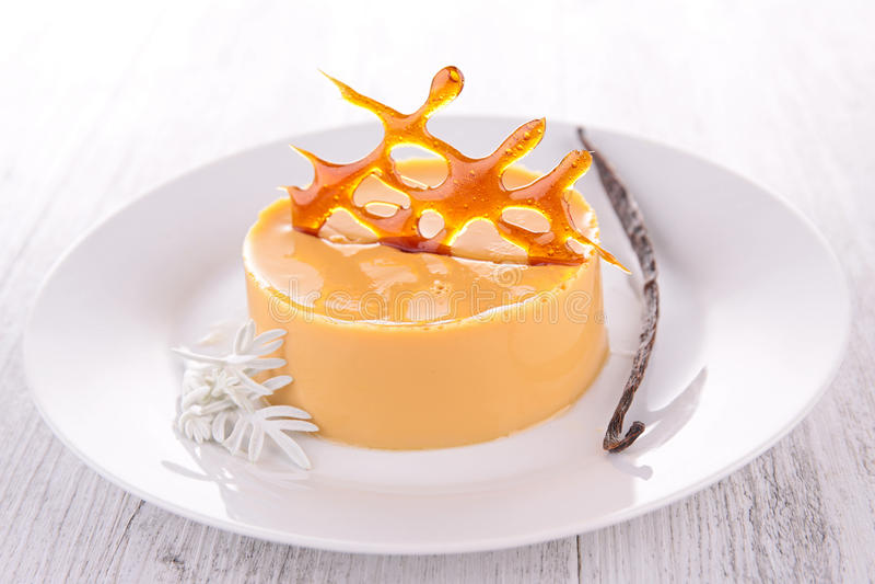 Dessert de caramel image libre de droits