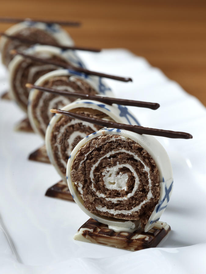 Dessert de chocolat images stock