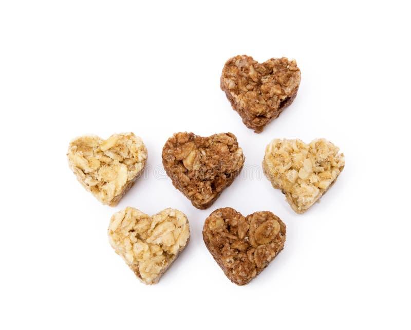 Dessert de coeur de farine d'avoine photographie stock