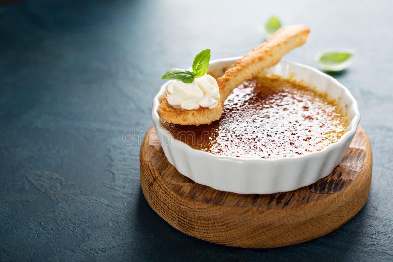 dessert de crème brulée photo stock