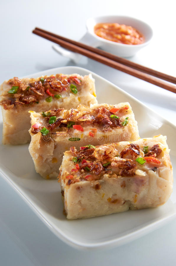 Dessert de gâteau d'igname de chine photo stock