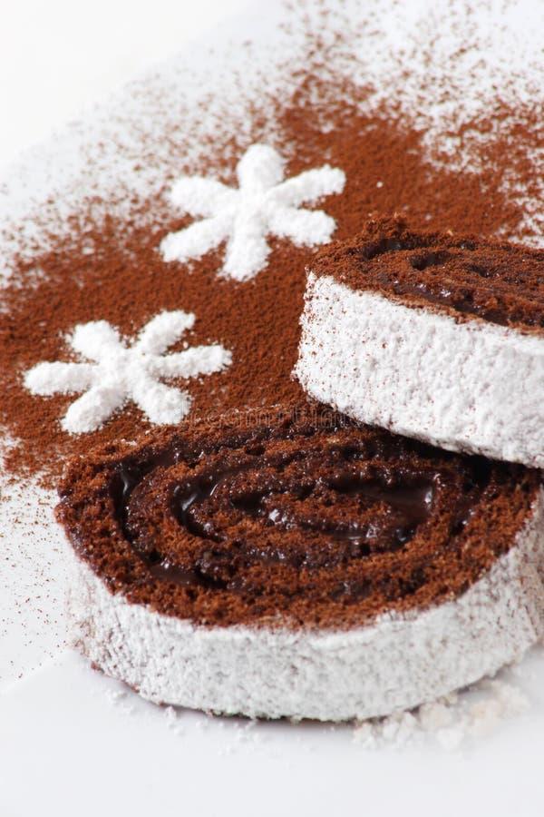 Dessert de gâteau de Choko photo stock