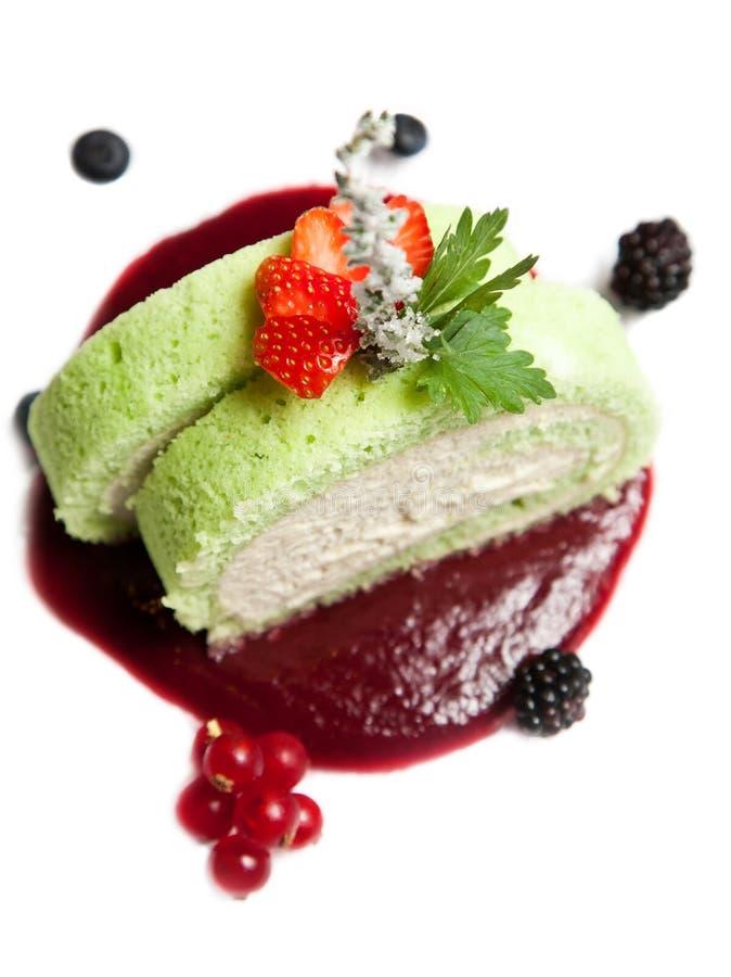 Dessert de gâteau de fruit photos stock