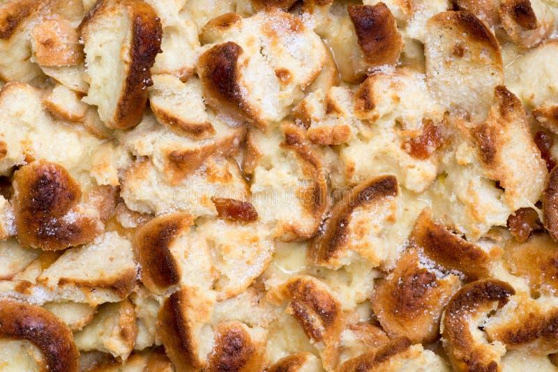 Dessert de l'anglais de pudding de pain et de beurre image stock