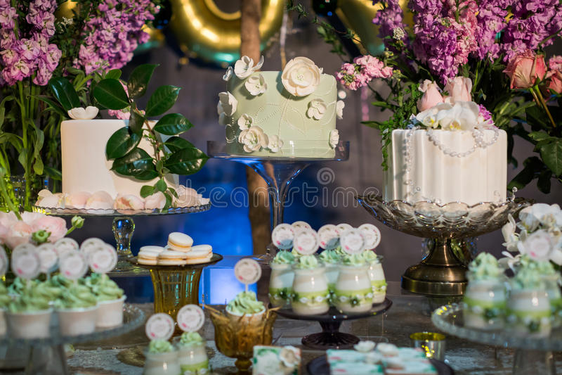 Dessert de mariage image stock