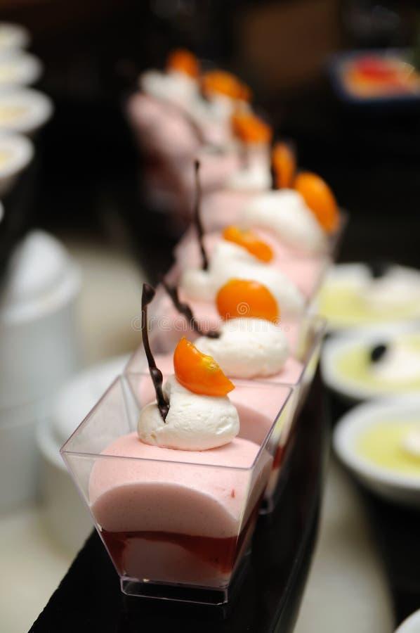 Dessert de mousse de fraise image libre de droits