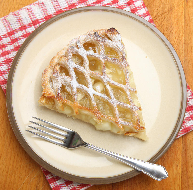Dessert de tarte aux pommes d'en haut photo stock
