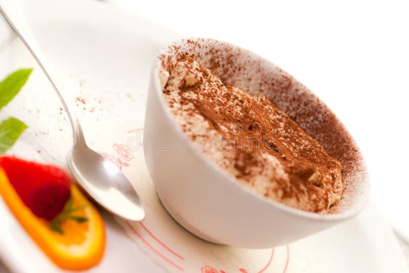 Dessert de Tiramisu. photographie stock libre de droits