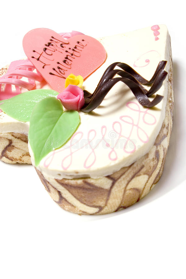 Dessert del biglietto di S. Valentino immagini stock libere da diritti