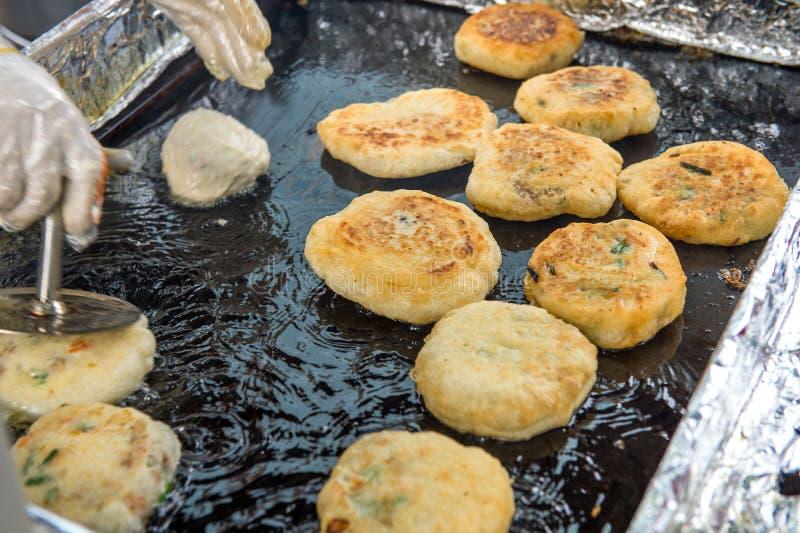 Dessert del Coreano del pancake di Hotteok Pancake dolce coreano immagine stock libera da diritti