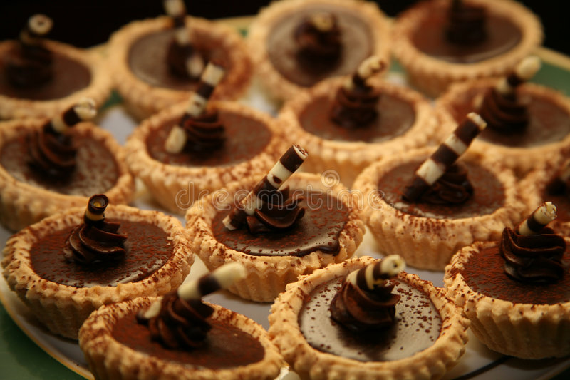 Dessert del Gourmet del cioccolato zuccherato immagini stock